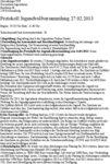 Protokoll Jugendvollversammlung 2013