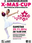 Plakat 2. Ahrensburger X-Mas-Cup in der Rhythmischen Sportgymnastik