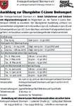 Ausschreibung Übungsleiter-C-Lizenz Breitensport